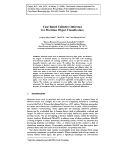 Case-Based Collective Inference for Maritime Object Classification