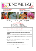 Vendor Packet 2015 Kids Kingdom KWF