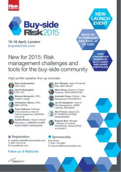 Risk management challenges and tools for the buy