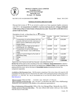 Ref. BCCL/IX/14/AGM Discount bid in terms of Description of work
