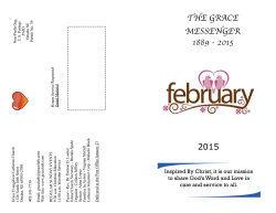 February 2015 Newsletter - Grace Evangelical Lutheran Church
