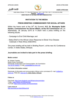 INVITATION TO THE MEDIA PRESS BRIEFING