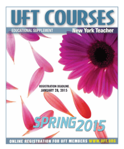 Spring 2015 Educational Supplement