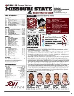 Game Notes 23.indd - CBS Sports Network