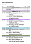 2015 scsha convention schedule