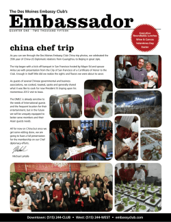 Embassy Club Newsletter