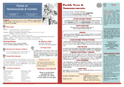 Download Bulletin - Parish of Newtownards and Comber