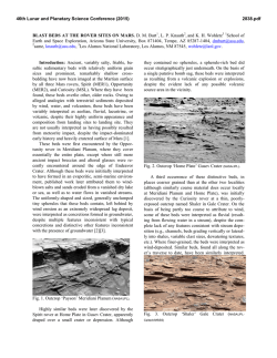 BLAST BEDS AT THE ROVER SITES ON MARS. D. M. Burt1, L. P.