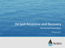 Oil Spill Response and Recovery