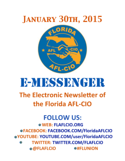 E-Messenger 1-30-15 - Florida AFL-CIO
