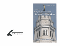 Click Here for the Student Symposium Schedule