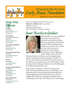 OCRS news February 2015 - Orange County Recorder Society