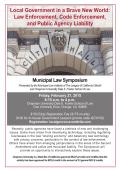 2015 Municipal Law Institute Symposium