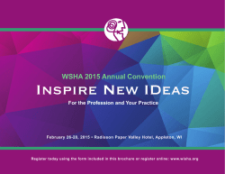 Inspire New IDeas - Wisconsin Speech Language Pathology and