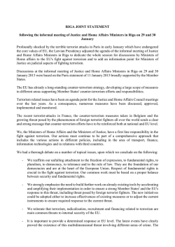 RIGA JOINT STATEMENT following the informal meeting
