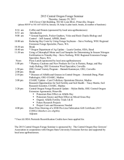 2015 Central Oregon Forage Seminar