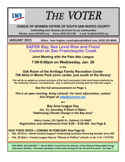 January - League of Women Voters of South San Mateo County
