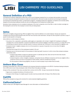 PEO Guidelines Flyer