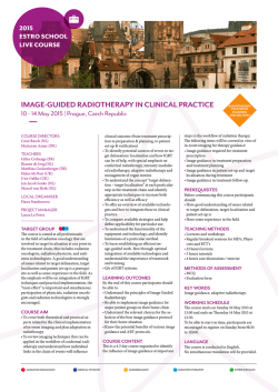 IMAGE-GUIDED RADIOTHERAPY IN CLINICAL PRACTICE