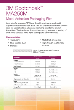 Scotchpak MA250M Metal Adhesion Packaging Film Flyer