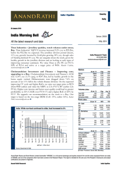 India Morning Bell - Anand Rathi Securities
