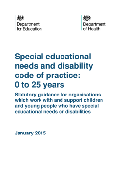 The Special Educational Needs and Disability