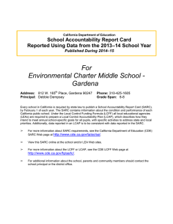 Download SARC Report - Environmental Charter Middle School