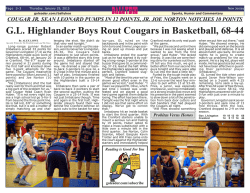 G.L. Highlander Boys Rout Cougars in Basketball, 68-44