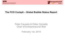 The FCO Cockpit – Global Bubble Status Report Peter Cauwels