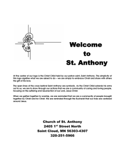 Packet - Church of St. Anthony of Padua