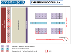 View the AMEE 2015 Exhibition Floor Plan