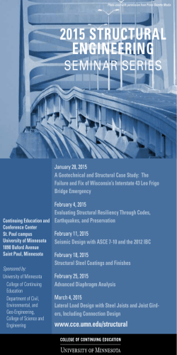 2015 STRUCTURaL EngInEERIng - College of Continuing Education