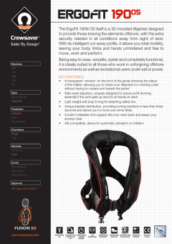 The ErgoFit 190N OS itself is a 3D-moulded lifejacket
