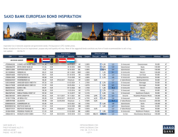 SAXO BANK EUROPEAN BOND INSPIRATION