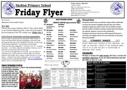 Friday flyer - Skelton Primary School