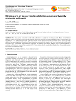 Dimensions of social media addiction among university students in