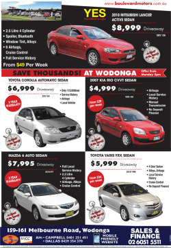 SAVE THOUSANDS! AT WODONGA Offer Ends