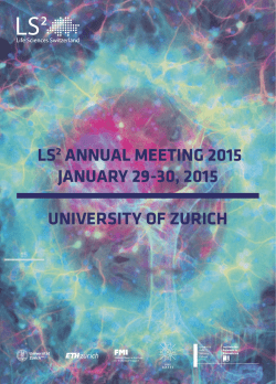 meeting booklet - LS2 Annual Meeting 2015