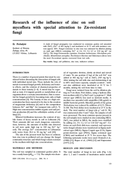 Research of the influence of zinc on soil mycoflora with special