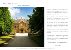 Guest-info - Poundon House