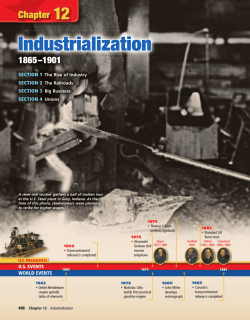 Chapter 12: Industrialization, 1865-1901