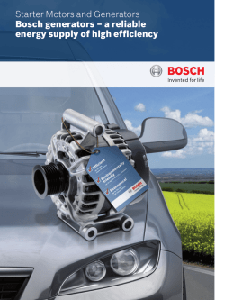 Bosch generators – a reliable energy supply of high efficiency