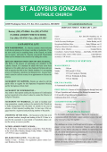 Current Bulletin - St. Aloysius Catholic Church