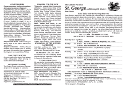 Current Newsletter - St George and the English Martyrs