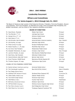 Leadership Document - Massachusetts Secondary School