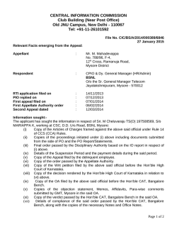 Decision No. CIC/BS/A/2014/000389/6846 dated 27-01