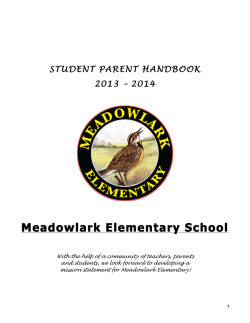 ML Handbook - Meadowlark Elementary School