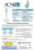Acnizil Kills P. Acnes Immediately and Continuously