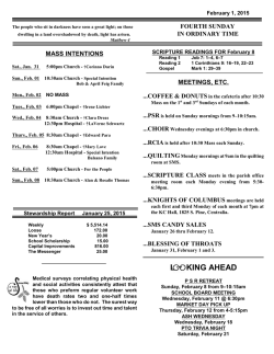 Weekly Bulletin - St Mary Church, Centralia, Illinois