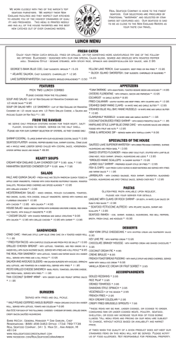 LUNCH MENU - Real Seafood Company